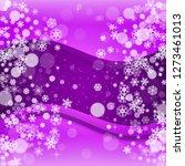 snow window with ultraviolet... | Shutterstock .eps vector #1273461013