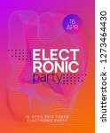 trance event. wavy discotheque... | Shutterstock .eps vector #1273464430