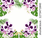 frame bouquet with tropical... | Shutterstock .eps vector #1273471840