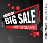 geometric big sale banner... | Shutterstock .eps vector #1273474519