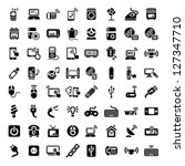 64 electronic devices icons set ... | Shutterstock .eps vector #127347710