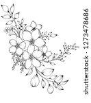 vector illustration of flowers...   Shutterstock .eps vector #1273478686