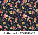 cute small flower pattern | Shutterstock .eps vector #1273484689