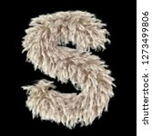 3d lamb furry letter s with... | Shutterstock . vector #1273499806
