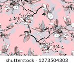 floral seamless pattern.... | Shutterstock .eps vector #1273504303