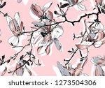 floral seamless pattern.... | Shutterstock .eps vector #1273504306