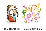 happy mother's day. greeting... | Shutterstock .eps vector #1273504516