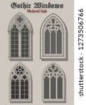 vector set of gothic windows... | Shutterstock .eps vector #1273506766