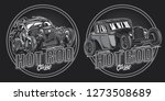 monochrome vector emblem with... | Shutterstock .eps vector #1273508689