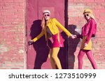 outdoor fashion. two young... | Shutterstock . vector #1273510999