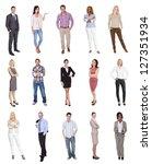 portraits of elegant people.... | Shutterstock . vector #127351934