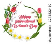 happy women s day greeting card.... | Shutterstock .eps vector #1273522480