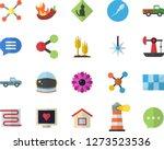 color flat icon set tile flat... | Shutterstock .eps vector #1273523536