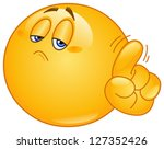 emoticon saying no with his... | Shutterstock .eps vector #127352426