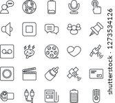 thin line icon set   brainstorm ... | Shutterstock .eps vector #1273534126