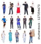 professional workers ... | Shutterstock . vector #127354673