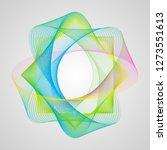 design element. asymmetric wave ... | Shutterstock .eps vector #1273551613