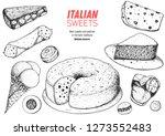 italian dessert vector... | Shutterstock .eps vector #1273552483