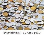 spare change of canadian metal... | Shutterstock . vector #1273571410