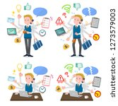 a set of school boy who perform ... | Shutterstock .eps vector #1273579003