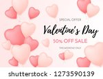 valentines day sale background. ... | Shutterstock .eps vector #1273590139