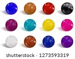 collection of colorful glossy... | Shutterstock .eps vector #1273593319