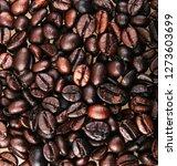 full frame shot of coffee beans | Shutterstock . vector #1273603699