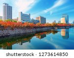 autumn scenery and modern... | Shutterstock . vector #1273614850