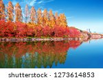 autumn scenery and modern... | Shutterstock . vector #1273614853