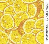 Yellow Lemons Hand Drawn...