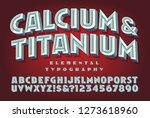 calcium and titanium is a retro ... | Shutterstock .eps vector #1273618960