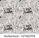seamless school pattern | Shutterstock .eps vector #127361954