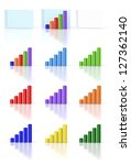 set of graphics and diagrams   Shutterstock . vector #127362140