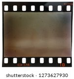 Old 35mm filmstrip on white