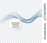 abstract blue waves background. ... | Shutterstock .eps vector #1273633093