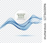 abstract blue waves background. ... | Shutterstock .eps vector #1273633096