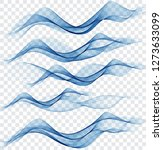 abstract blue wave set on... | Shutterstock .eps vector #1273633099
