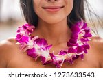lei hawaii welcome necklace of... | Shutterstock . vector #1273633543