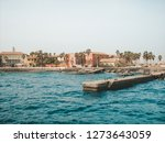 senegal beach with concrete... | Shutterstock . vector #1273643059