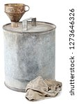 canister metal cylindrical old... | Shutterstock . vector #1273646326