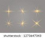 white glowing light explodes on ... | Shutterstock .eps vector #1273647343