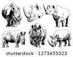 Graphical Set Of Rhinos...