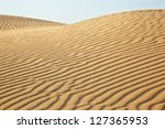 Sand Dunes Of Desert Thar  In...