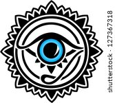nazar   protection amulet   eye ... | Shutterstock .eps vector #127367318