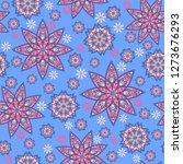 seamless oriental ornamental... | Shutterstock .eps vector #1273676293