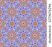 seamless oriental ornamental... | Shutterstock .eps vector #1273676296