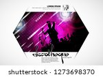 crowd fans at live concert.... | Shutterstock .eps vector #1273698370