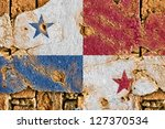 grunge flag of panama on old... | Shutterstock . vector #127370534