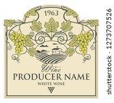 vintage label for wine bottles...   Shutterstock .eps vector #1273707526