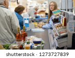 customer buying food at... | Shutterstock . vector #1273727839